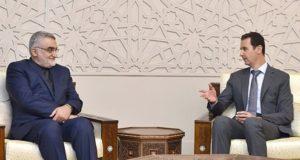 İran Meclisi Ulusal Güvenlik ve Dış Politika Komisyonu Başkanı Alaaddin Burucerdi ile görüşen Suriye lideri Esad: Rusya ve İran'ın desteği çok değerli
